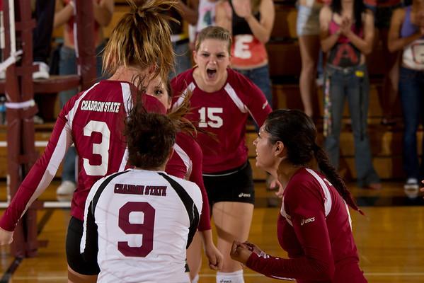 Volleyball vs. Colorado Christian 9-28-12
