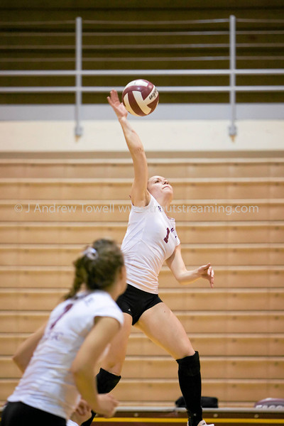 """Images from the 2007 Seattle Pacific University Falcons Volleyball match versus the Saint Martins University Saints at Brougham Pavilion in Seattle Washington in the NCAA Division II Great Northwest Athletic Conference. Images have been batch processed for display on the web. 4x6 prints will be made 'as-is' and are priced at a substantial discount, all other sizes and products will be post-processed by hand to maximize image quality (and reflect my usual pro pricing).  Small digital images for web use are available on request with any print purchase. Images may be used for personal viewing, but may not be used for any commercial purposes or altered in any form without the express prior written permission of the copyright holder, who can be reached at troutstreaming@gmail.com Copyright © 2007 J. Andrew Towell   <a href=""""http://www.troutstreaming.com"""">http://www.troutstreaming.com</a> . <br /> <br /> As always, feedback - good and bad - is always appreciated!"""