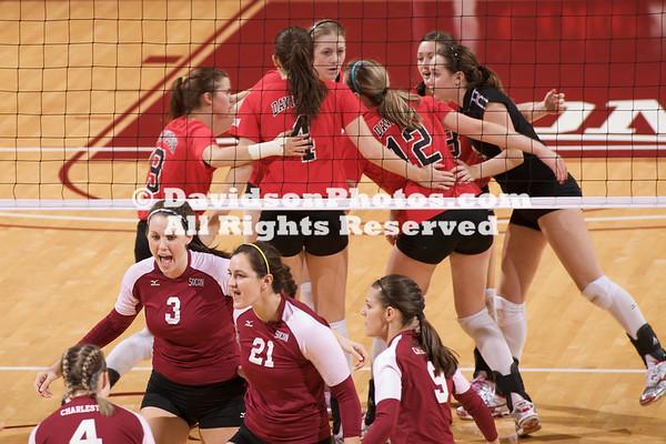 CHARLESTON, SC - College of Charleston defeats Davidson in SoCon volleyball action.