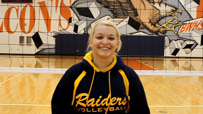 Postmatch interveiw with Loudoun County senior setter Robin Marsala after the Raiders defeated Broad Run Saturday in a one-game playoff to clinch a Region II tournament bid.