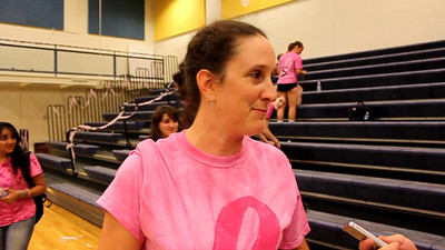 Broad Run High School volleyball coach Ellen Roberts after her Spartans knocked off Loudoun County Tuesday night in five games.