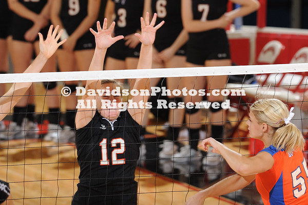 18 September 2010:  Davidson women's volleyball loses 3-0 against Boise State at Belk Arena in Davidson, North Carolina.