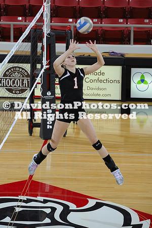 06 November 2010:  Davidson defeats The Citadel 3-1 in SoCon women's volleyball at Belk Arena in Davidson, North Carolina.