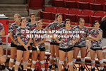 18 September 2010:  Davidson women's volleyball loses at tightly contested match 3-2 against High Point at Belk Arena in Davidson, North Carolina.