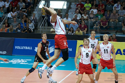Puerto Rico vs Canada in Kingston as part of World Cup of Volleyball