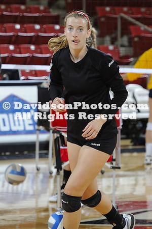 22 October 2011:  Davidson defeats UT-Chattanooga 3-0 in SoCon women's volleyball at Belk Arena in Davidson, North Carolina.