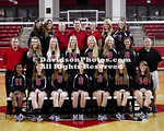 22 August 2012: Davidson women's volleyball poses for team pictures at Belk Arena in Davidson, North Carolina.