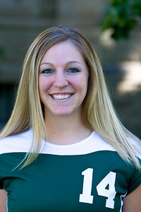 "#14 Annie Krise 5'7"" Junior	 Outside Hitter Terry, MT – Terry HS Exercise Science Jim and Ellie Krise"