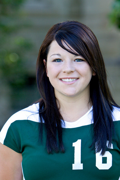 "#16 Brittany Hodgson<br /> 5'6"" Freshman<br /> Outside Hitter<br /> Manor, Saskatchewan – Manor HS<br /> Biology<br /> Dannie and Betty Ann Hodgson"