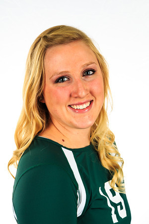 "#19 BrieAnna Geck<br /> Position: Middle Blocker<br /> Height: 5'11""<br /> Class: Sophomore<br /> Hometown: Huntley, MT"