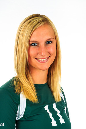 "#11 Jamie Elenbaas<br /> Position: Outside Hitter/Libero<br /> Height: 5'10""<br /> Class: Senior<br /> Hometown: Billings, MT"