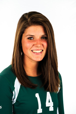 "#14 Anna Dewald<br /> Position: Middle Blocker<br /> Height: 6'3""<br /> Class: Sophomore<br /> Hometown: Windsor, CO"