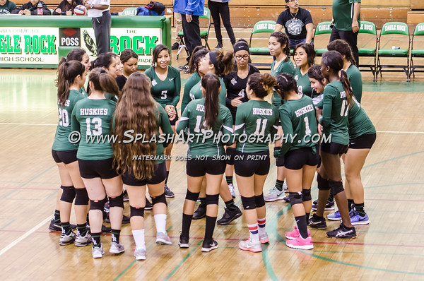 2015 Eagle Rock Volleyball vs Rivera