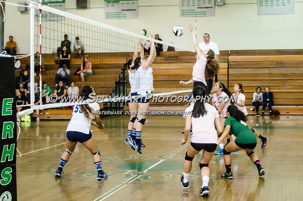 2016 Eagle Rock Girls Volleyball vs Wilson Mules