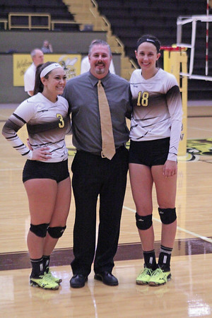 Baldwin Wallace Volleyball Senior Night