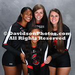 NCAA WOMENS VOLLEYBA::: AUG 11 Davidson Team Picture Day