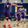 Brian Johnson serves the ball in their game against Greater Lowell Tech. SUN/Caley McGuane