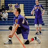 Captain, Kyle Morris gets ready to hit ball in their game against Greater Lowell Tech. SUN/Caley McGuane