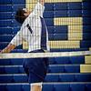 Greater Lowell Tech's Damanden Mung passes the ball over the net. SUN/Caley McGuane