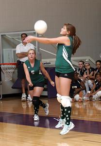 Adairsville #9 Amanda Kansco (right) teammate #5 Tiffany Towslee (left)
