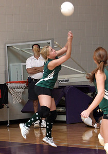 Adairsville #5 Tiffany Towslee trying to keep the ball in play