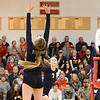 Chico faces Pleasant Valley on the volleyball court Tuesday, Oct. 25, 2016, in Chico, California. (Dan Reidel -- Enterprise-Record)