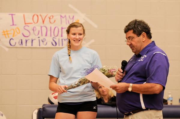 Darlington Senior Night Volleyball
