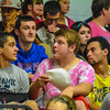 North Middlesex students try and keep cool during Wednesday's Dig Pink volleyball match at the high school.<br /> NASHOBA PUBLISHING/ED NISER