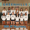 Greenhills JV Volleyball Team 8x10 2019
