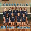Greenhills Varsity Volleyball Team 8x10 2019