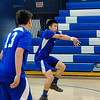 Leominster High's Zach Kang hits the ball to Monty Tech on Tuesday afternoon. SENTINEL & ENTERPRISE / Ashley Green