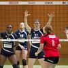 Match de volleyball de ligue nationale B tour de qualification saison 2013-14, NUC2 - VBC Groupe E Greenwatt Val-de-Travers (1-3), Salle de la Riveraine à Neuchâtel