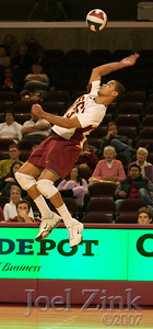 Men's volleyball vs. UC San Diego at the Galen Center 1.19.07. USC lost in four matches.