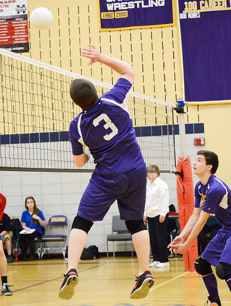 Monty Tech Volleyball playoffs against Natick