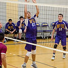 Monty Tech's Josh Gamache goes up for the ball during the match against Fitchburg High on Tuesday afternoon. SENTINEL & ENTERPRISE / Ashley Green