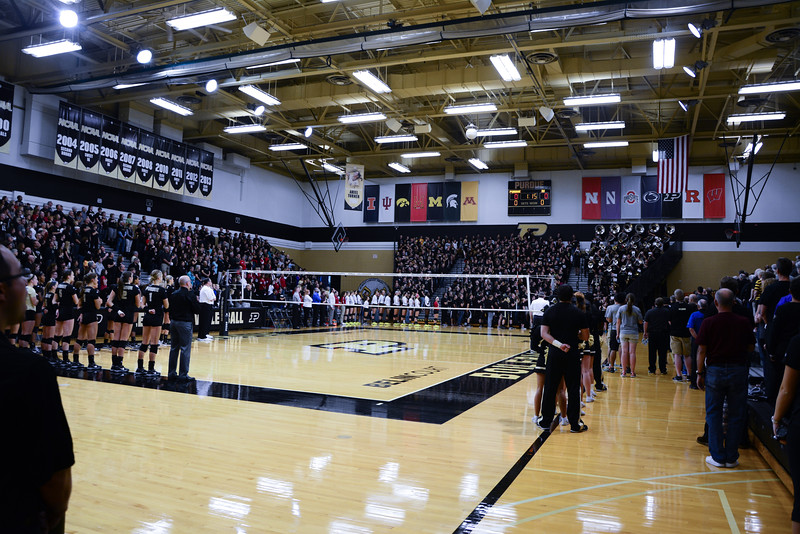 The Purdue Boilermakers and Indiana Hoosiers prepare to face off at Holloway Gym on Wednesday