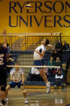 Ryerson Rams Mens Vball Archive 08-09 season : This archival gallery features my best shots of the Ryerson Rams men's vball team taken throughout the entire 08-09 season. I photographed four regular season matches. The images are more or less in chronological order, starting with the late season games and proceeding back in time from there. In addition to the images displayed in this archive,  I have saved other additional photos on file from each of these four games. Contact me should you be looking for a particular player or image.