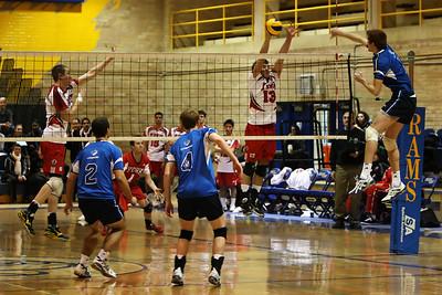Devin Rattie block (6J0E4240) Devin Rattie blocks Ryerson's Chris McLaughlin (6J0E4240)