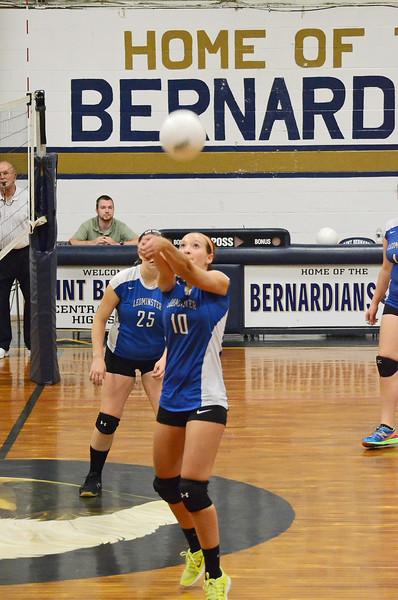 St. Bernard's vs Leominster Girls Volleyball