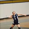The Leominster volleyball team defeated St. Bernard's 3-0 on Wednesday afternoon at the St. Bernard's Activity Center. St. Bernard's Anne Saball serves up the ball. SENTINEL & ENTERPRISE / Ashley Green