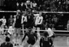 Cassidy Lichtman tries to hit through the block