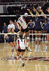 Stanford's Janet Okogbaa hits it past UW's Lauren Barfield