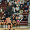 Lady Warrior Isabelle Dotlich (11) finesses the ball toward the net in volleyball action against Logansport at Winamac on Thursday night. Fran Ruchalski | Pharos-Tribune