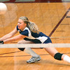 #5 for Sullivan South, Hannah Grese, hits shot. Photo by Ned Jilton II