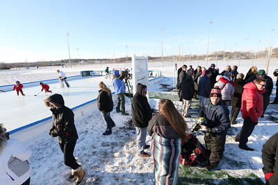 WDM's New Outdoor Hockey Rink ... brought to you by Wells Fargo and the Iowa Wild