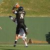 Bushland's Crockett Gillmore (8) scores the first touchdown.