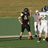 Bushland's Michael Welch (71) and Sawyer Cornelius (5) line up for the first down of the game.