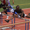 Jeylin Reed of Rider won his heat of the 110m hurdles in the Region 1-4A track meet at Odessa.  Reed advanced to the finals with a time of 14.12.
