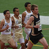Dylan Williams leads the pack in the 1600m run at the Region 1-4A track meet.