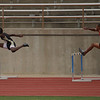 Jeylin Reed (Rider) and Javon Johnson (WFHS) finished first and second respectively in their heat of the 300m hurdles.  Reed advanced to Saturday's finals of the Region 1-4A track meet.